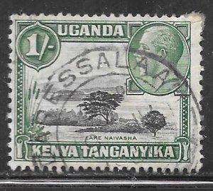 Kenya Uganda Tanganyika 54a: 1/- George V and Lake Naivasha, used, F-VF
