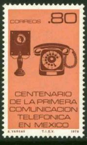 MEXICO 1160, Centenary of First Telephone service. MINT, NH. F-VF.