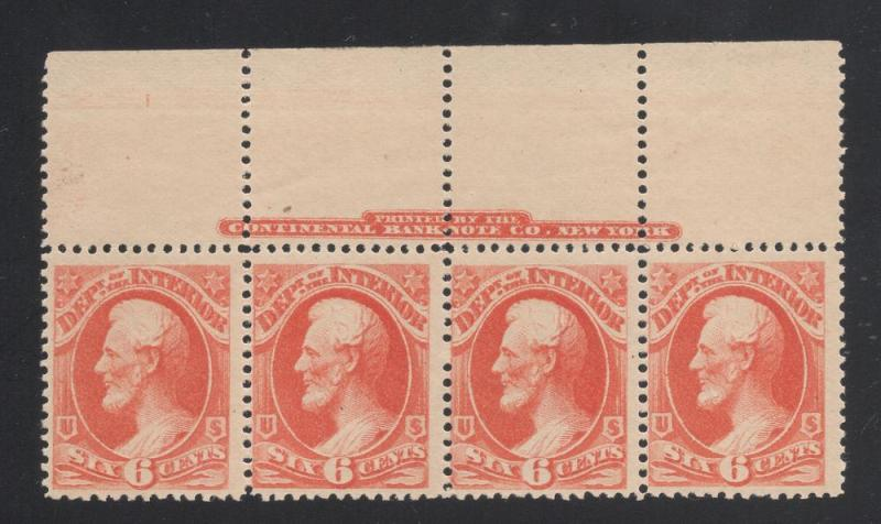 US#O99 - Strip of 4 w/Printers Imprint - OG - NH