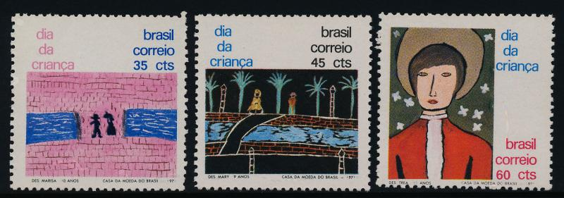 Brazil 1200-2 MNH Children's Art