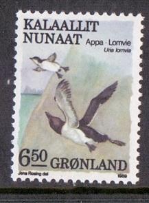 Greenland 1987 MNH  birds  6k50 guillemots    1989    #