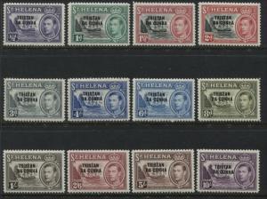Tristan da Cunha KGVI 1952 set to 10/ mint o.g.