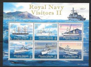 PITCAIRN ISLANDS SGMS820 2010 ROYAL NAVY VISITORS II MNH