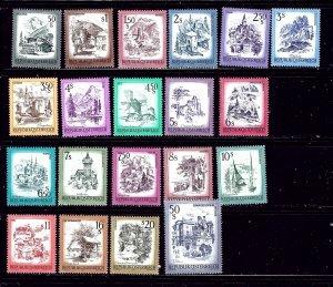 Austria 958-78 MNH 1973-78 set