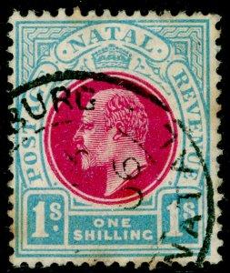 SOUTH AFRICA - Natal SG155, 1s carmine & pale blue, USED. WMK MULT CA