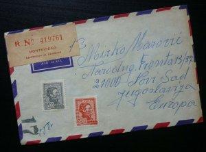 Uruguay 1975 Montevideo Airmail Cover To Yugoslavia  C5