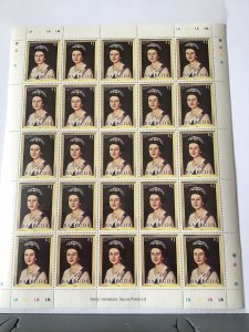 Barbuda Queen Elizabeth 11 mint never hinged full stamps sheet ref R23561