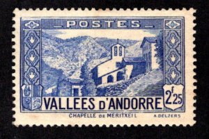 ANDORRA - FRENCH ADMINISTRATION SC# 58 FVF/MOG 1939