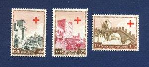SAN MARINO - # 305-307 - VFMNH -  Red Cross - 1951