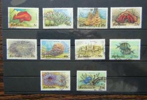 Barbados 1985 Marine Life values to $10 Used