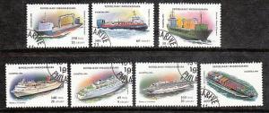 Madagascar Ships 1248-54 CTO VF