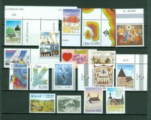 Aland. Lot Off Paper. 17 Different Mnh. Recent Issues.