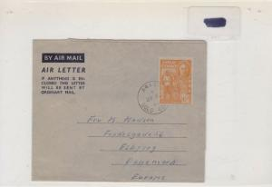 gold coast 1953 air letter cover Ref 8456