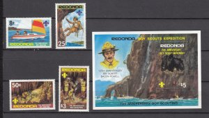 Z2309  redonda antigua set mh + mnh s/s #scouts, sports, not listed in scotts