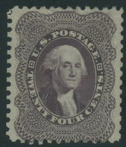 #45 24c 1875 RE-ISSUE VF+ WITH PF CERT WLM8547