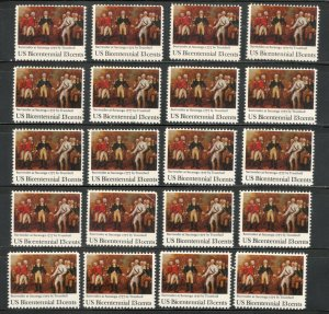 1728 Surrender Of Saratoga Wholesale Lot Of 20 US Stamps Mint/nh Below Face