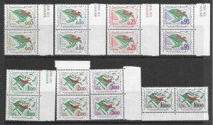 Algeria 296-303 MNH pairs, see desc. 2020 CV $66.10