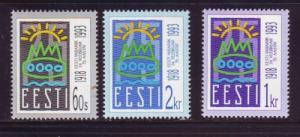 Estonia Sc 238-40 1993 75th anniv 1st Republic stamp set ...