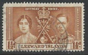 Leeward Islands - 1937 Coronation - 1½d used - SG93