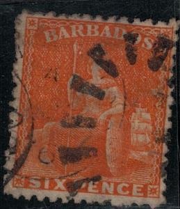 Barbados 1875 SC 48 Used SVC$ 95.00