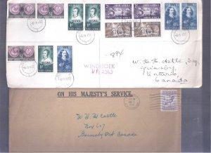 BRITISH COLONIES COVERS NEW FOUNDLAND S. AFRICA TRINIDAD KUT S. RHODESIA MALAWI