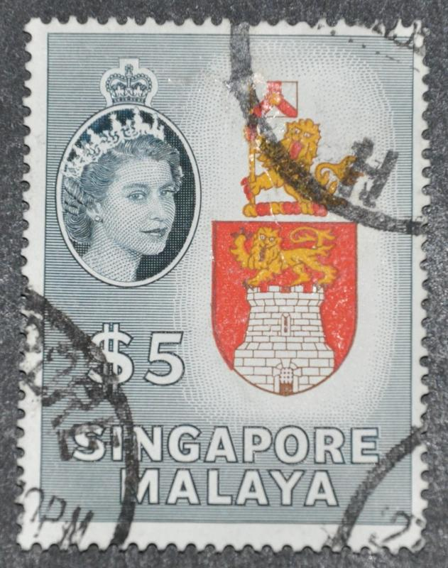 DYNAMITE Stamps: Singapore Scott #42 – USED