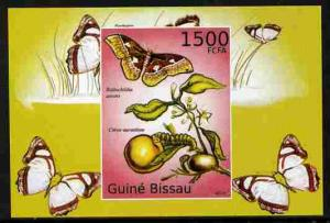 Guinea - Bissau 2010 Butterflies #10 individual imperf de...
