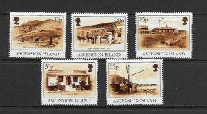ASCENSION ISLAND - 1995 ISLAND SCENES - SCOTT 608 TO 612 - MNH