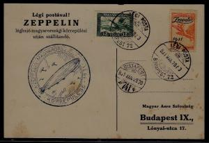 Hungary Zeppelin card 29.3.31 faults