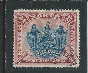 NORTH BORNEO 1894 24c BLUE & ROSE-LAKE FU SG 79 CAT £85