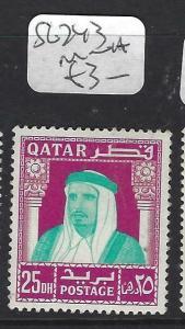 QATAR  (P0304BB)  SHEIKH  25 DH   SG 243    MNH