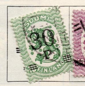 Finland 1921 Early Issue Fine Used 30p. Surcharged 105514