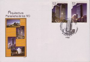 PANAMA ARCHITECTURE of the 1990s, BUILDINGS Sc 887-888 FDC 2001