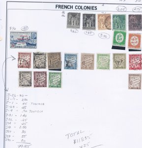 FRENCH COLONIES SCV $118.35 STARTS AT A LOW PRICE !!