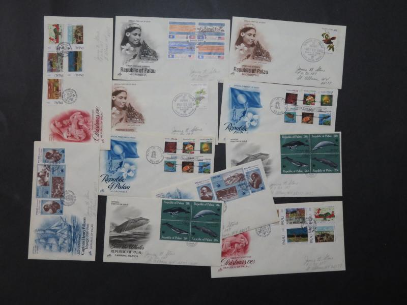 Palau Collection of 25 First Day Covers / Light Duplication - M308