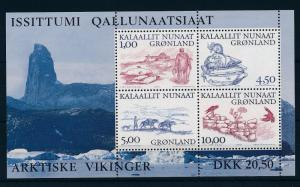 [29299] Greenland 2001 Animals Vikings Birds Horses Seal Mice MNH Sheet