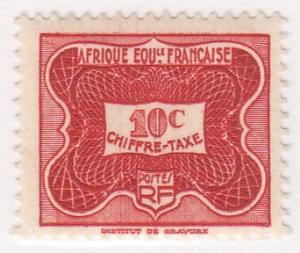 French Equatorial Africa, Scott #J12 (1), MNH