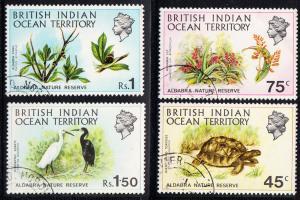 BRITISH INDIAN OCEAN  TERRITORY 39-42 used #39-42