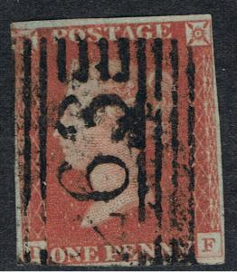 UNITED KINGDOM 1841 1d RED BROWN QUEEN VICTORIA ON BLUSHISH PAPER