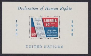 Liberia Airmail # C119 Declaration Human Rights , F-VF OG NH S/S - I Combine S/H