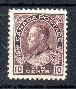 Canada KGV 1911 10c brownish violet mint MH SG211 WS14148