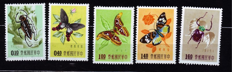 J22922 JLstamps 1958 china taiwan short set mh #1183-7 insects