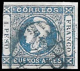 1859 BUENOS ARIES SC#10 - CV $50.00 - QUALITY SPACE FILLERS - MHOG - VERY SOUND