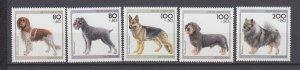 J29734, 1995 germany set mnh #b779-83 dogs