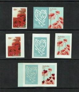 Australia: 2009, Greetings Stamps, 'With Love', gummed and self-adhesive.
