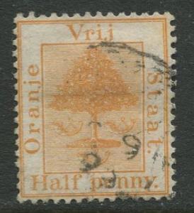 Orange River Colony -Scott 1- Orange Tree - 1868 - Used - 1/2p Stamp