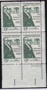 US Plt Blk Sc# 1380 Daniel Webster MNH #31057 LR