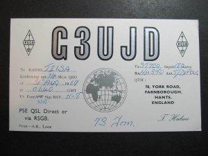 10411 Amateur Radio QSL Card FRANBOROUGH HANTS ENGLAND