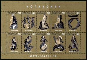 Faroe Islands - 2007 -Legend of Seal Women sheet MNH # 483