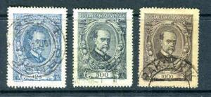 CZECHOSLOVAKIA 1920 SC 62 - 63  Set Used VF